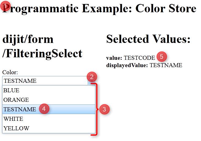 Basic html dojo client.